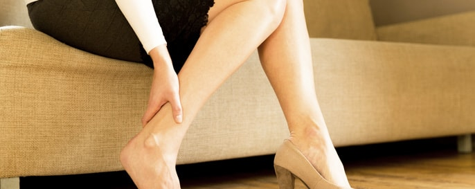 Stock image of Model Suffering with Heel Pain